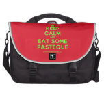 [Chef hat] keep calm and eat some pasteque  Laptop Bags
