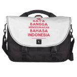 [Crown] saya bangga menggunakan bahasa indonesia  Laptop Bags