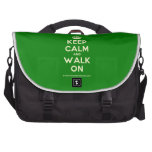 [Crown] keep calm and walk on  Laptop Bags