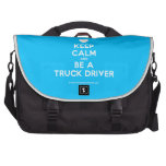 [Love heart] keep calm and be a truck driver  Laptop Bags