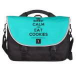 [Crown] keep calm and eat cookies  Laptop Bags
