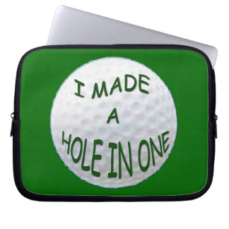 LAPTOP BAGS - I Made a Hole in One Laptop Sleeves