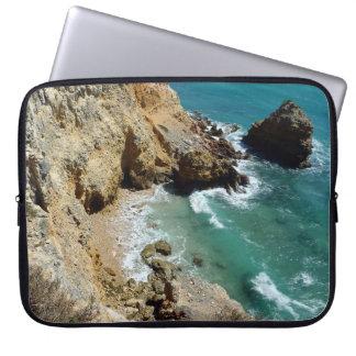 Laptop Case Cliff Side Beach Scene, Cabo Rojo, PR Laptop Sleeve