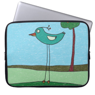 Laptop Case, Cute bird and tree Laptop Sleeve