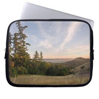 Laptop case of Sunset, Santa Cruz Mtns, California Laptop Sleeves
