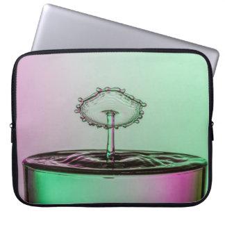 Laptop case water splash collision green pink