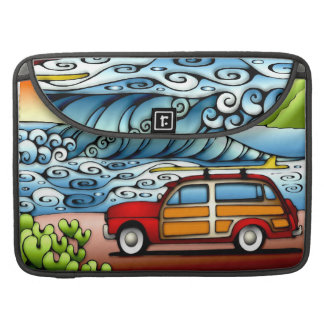 Laptop Case Woodie North Shore Surf Sleeves For MacBooks