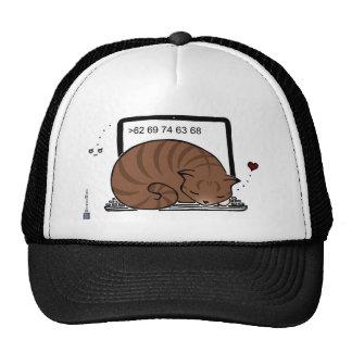 Laptop Cat Bed (Brown Tabby) Trucker Hat
