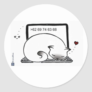 Laptop Cat Bed Stickers (Blue Point Siamese)