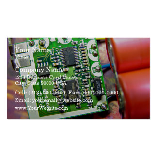 Laptop circuit board business card