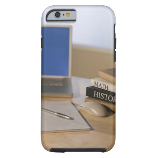 Laptop computer and textbooks tough iPhone 6 case
