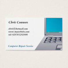 Laptop Computer Business Card at Zazzle