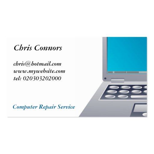 Laptop Computer Business Card Template
