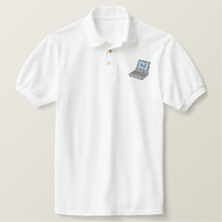 Laptop Computer Embroidered Polo Shirt