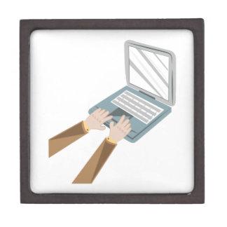 Laptop Computer Jewelry Box
