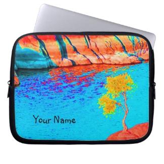 Laptop Computer Sleeve, Colorful Landscape Scene