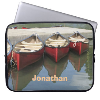 Laptop Computer Sleeve Red Canoes