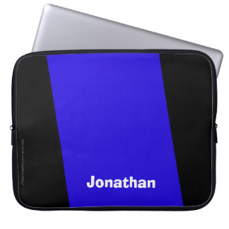 Laptop Computer Sleeve Royal Blue and Black