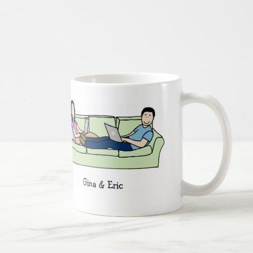 Laptop couple mug