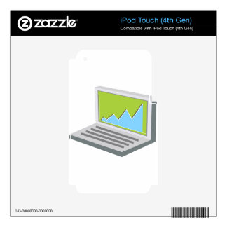 Laptop Financial Report Icon iPod Touch 4G Skins