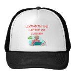 LAPTOP geek Trucker Hats