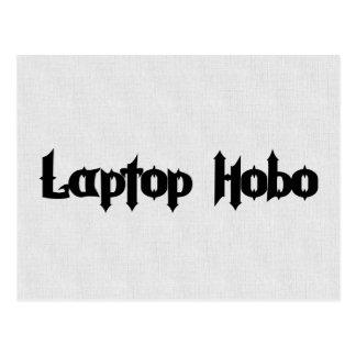 Laptop Hobo Post Card