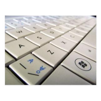 Laptop Keyboard Postcard