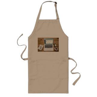 laptop long apron