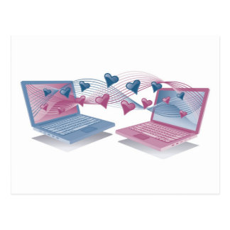 Laptop Love Cards Postcard