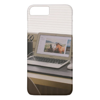Laptop, mouse, mobie and stationary items iPhone 7 plus case