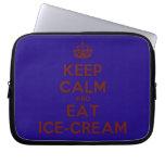 [Crown] keep calm and eat ice-cream  Laptop/netbook Sleeves Laptop Sleeves