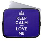 [Crown] keep calm and love mb  Laptop netbook Sleeves Laptop Sleeves