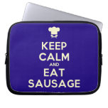 [Chef hat] keep calm and eat sausage  Laptop/netbook Sleeves Laptop Sleeves
