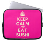 [Crown] keep calm and eat sushi  Laptop/netbook Sleeves Laptop Sleeves