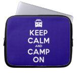 [Campervan] keep calm and camp on  Laptop/netbook Sleeves Laptop Sleeves