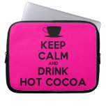 [Cup] keep calm and drink hot cocoa  Laptop/netbook Sleeves Laptop Sleeves