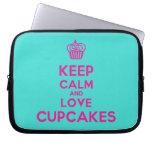 [Cupcake] keep calm and love cupcakes  Laptop/netbook Sleeves Laptop Sleeves