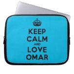 [Crown] keep calm and love omar  Laptop/netbook Sleeves Laptop Sleeves