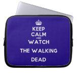 [Crown] keep calm and watch the walking dead  Laptop/netbook Sleeves Laptop Sleeves