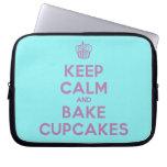 [Cupcake] keep calm and bake cupcakes  Laptop/netbook Sleeves Laptop Sleeves