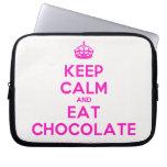 [Crown] keep calm and eat chocolate  Laptop/netbook Sleeves Laptop Sleeves