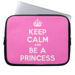 [Crown] keep calm and be a princess  Laptop/netbook Sleeves Laptop Sleeves