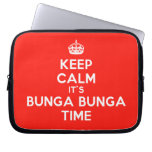 [Crown] keep calm it's bunga bunga time  Laptop/netbook Sleeves Laptop Sleeves