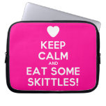 [Love heart] keep calm and eat some skittles!  Laptop/netbook Sleeves Laptop Sleeves