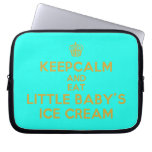 [Cupcake] keepcalm and eat little baby's ice cream  Laptop/netbook Sleeves Laptop Sleeves