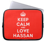 [Crown] keep calm and love hassan  Laptop/netbook Sleeves Laptop Sleeves