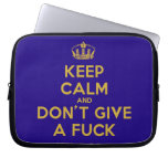 [Dancing crown] keep calm and don't give a fuck  Laptop/netbook Sleeves Laptop Sleeves
