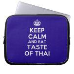 [Crown] keep calm and eat taste of thai  Laptop/netbook Sleeves Laptop Sleeves