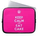 [Cupcake] keep calm and eat cake  Laptop/netbook Sleeves Laptop Sleeves