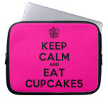 [Cupcake] keep calm and eat cupcakes  Laptop/netbook Sleeves Laptop Sleeves